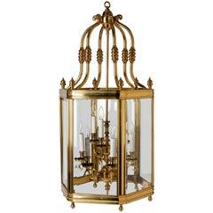 Large Brass Lantern, circa 1950