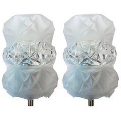 Pair of 1970s Austrian Crystal Midcentury Wall Lights