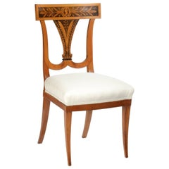 Biedermeier Cherrywood Side Chair, circa 1810