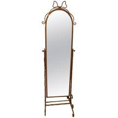 Charming Italian Giltmetal Full Length Cheval Mirror