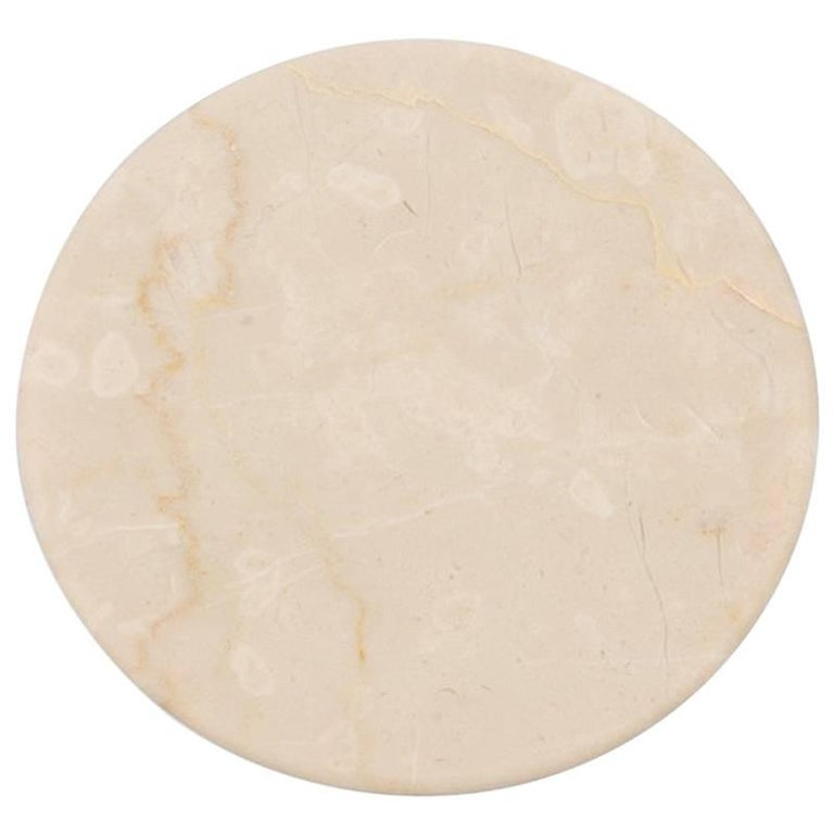 Salvatori Fontane Bianche Wall Hook in Botticino Beige Marble by Elisa Ossino