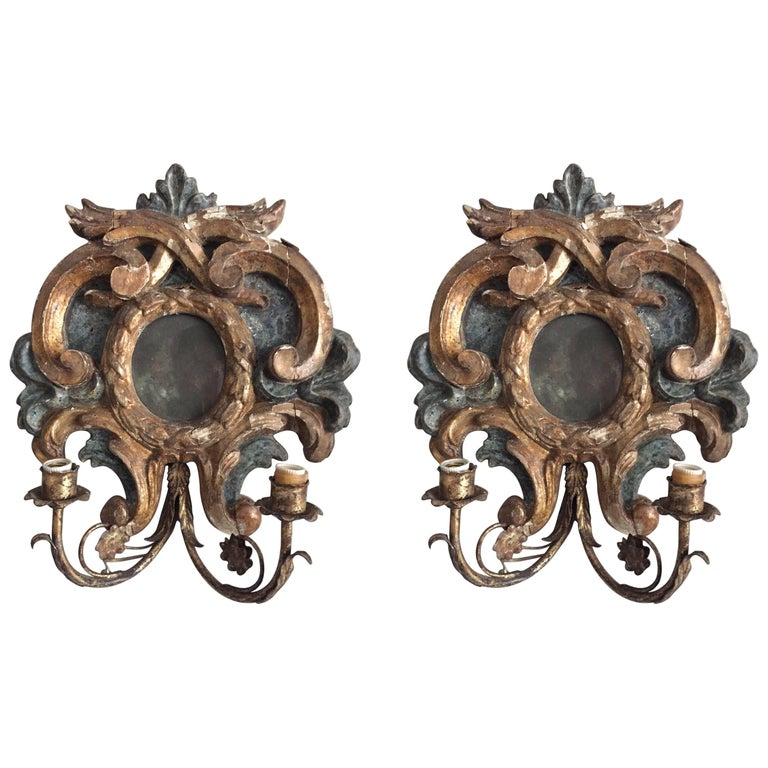 Pair of 19th Century Italian Sconces 1