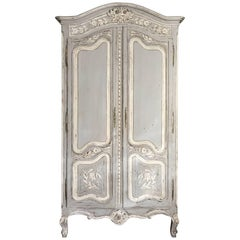 Small 19th Century Painted French Armoire