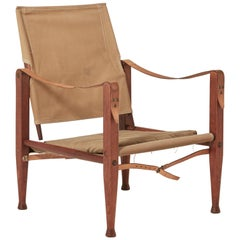 Kaare Klint Safari Chair in Canvas, Made by Rud Rasmussen, Denmark