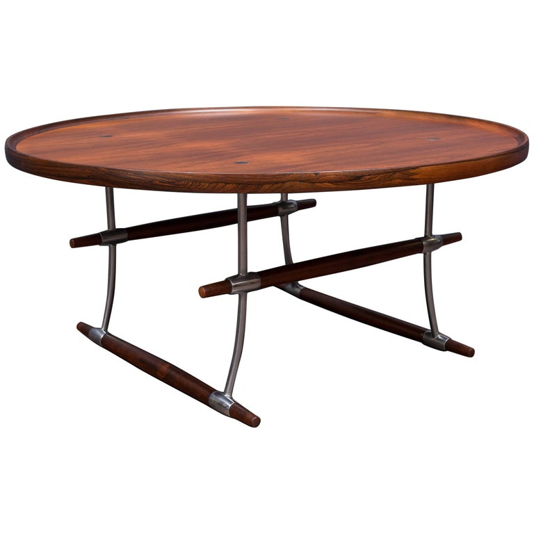 Jens Quistgaard Stokke Rosewood Coffee Table for Nissen For Sale