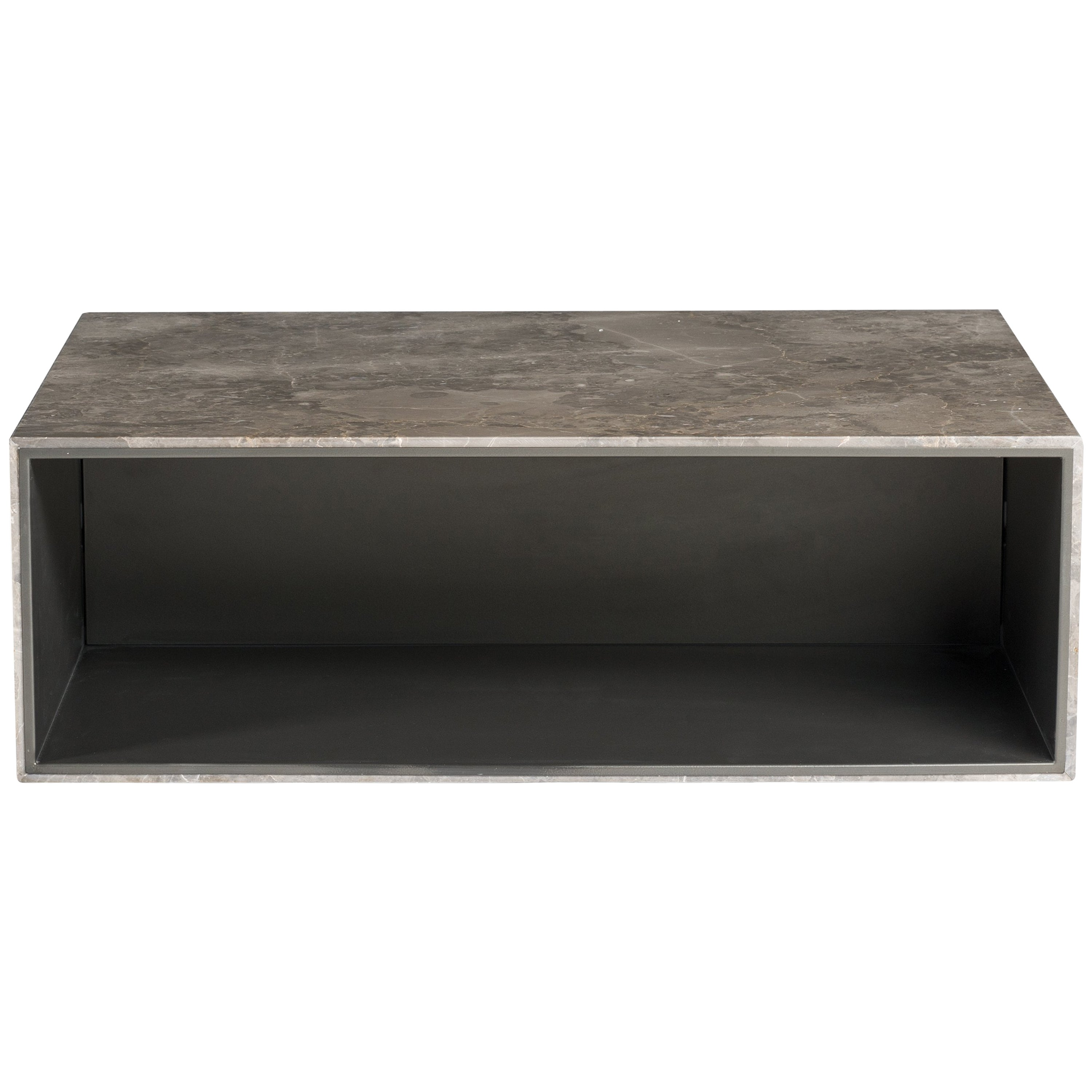 Salvatori ciane floating shelf in gris du marais marble by elisa ossino for sale at 1stdibs