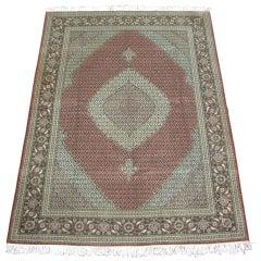 Persian Wool and Silk Tabriz Mahi