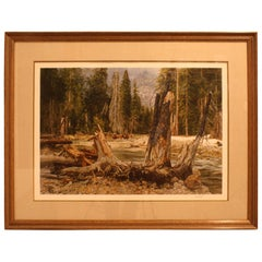 """Paul Calle """"In Search of Beaver"""" Signed Le Artist Print # 652/950"""
