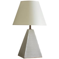 Steeple Table Lamp with Waffle Texture