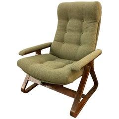 Mid-Century Modern Bentwood Recliner Reclining Lounge Chair