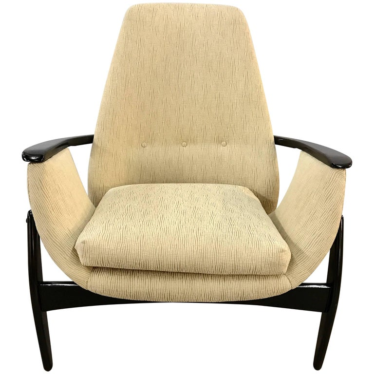 Belgian Mid-Century Modern Tri-Pod Chair Attributed to Alfred Hendrickx