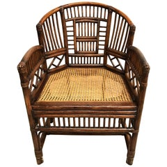 Midcentury Bamboo and Rattan Armchair