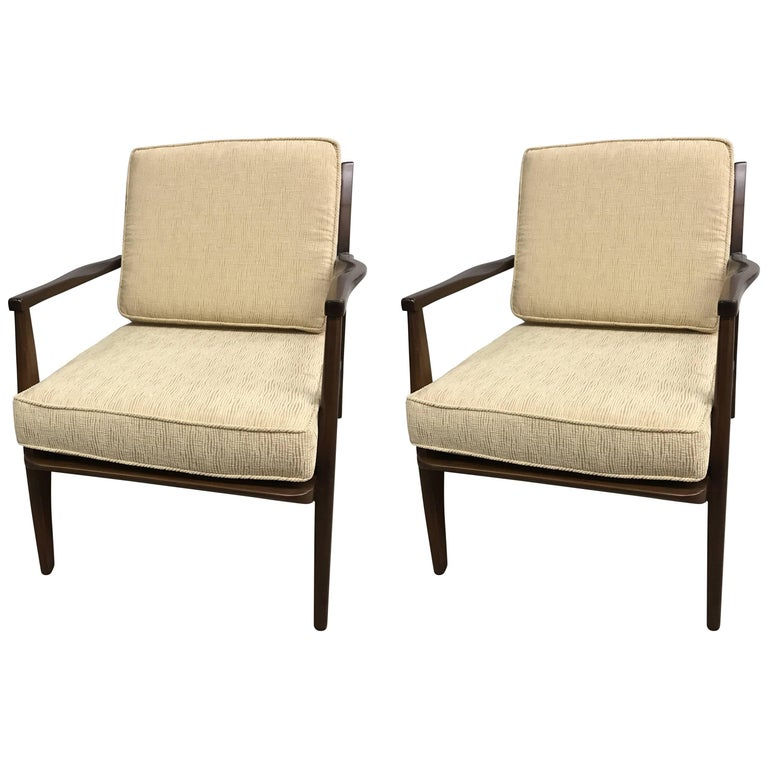 Pair of Danish Midcentury Modern Armchairs For Sale
