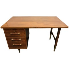 Danish Mid-Century Modern Oiled Walnut Desk Writing Table
