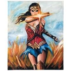 """Warrior"" Wonder Women Pop Art Painting by Hatti Hoodsveld"