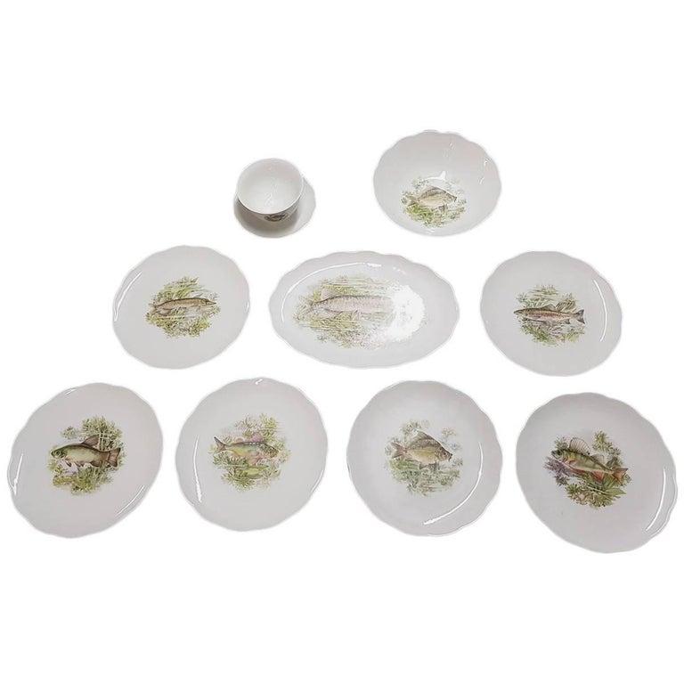 Vintage Porcelain German Dining Set by Bavaria Vohenstrauss Johann Seltmann