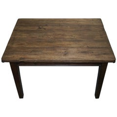 Rustic Farmhouse Country Distressed Refectory Dining Table Seats Four Waxed