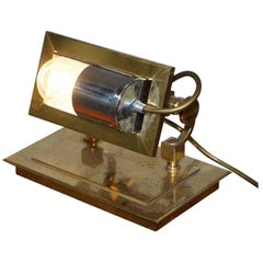 Exhibition Solid Brass Up Lighter Lamp, Free Standing, Angle Adjustment Bankers