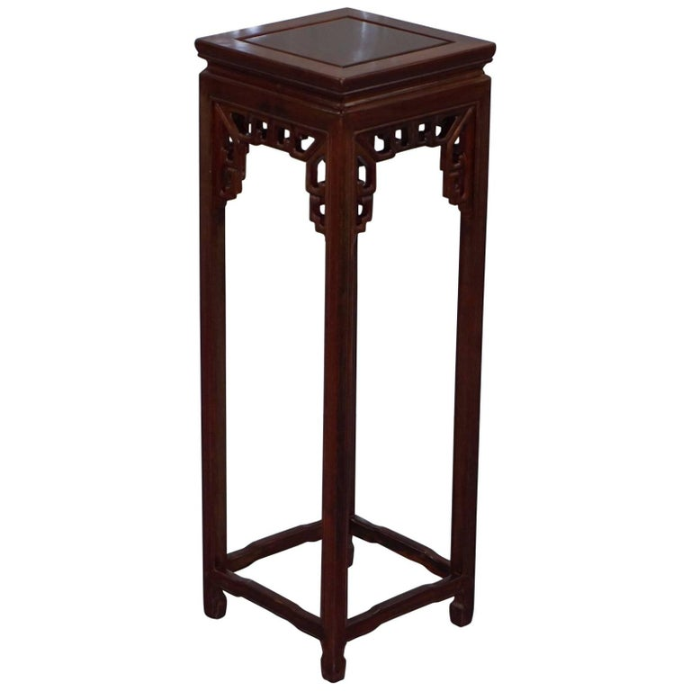 Stunning Solid Wood Chinese Chen Leung Style Plant Pot Jardiniere Stand