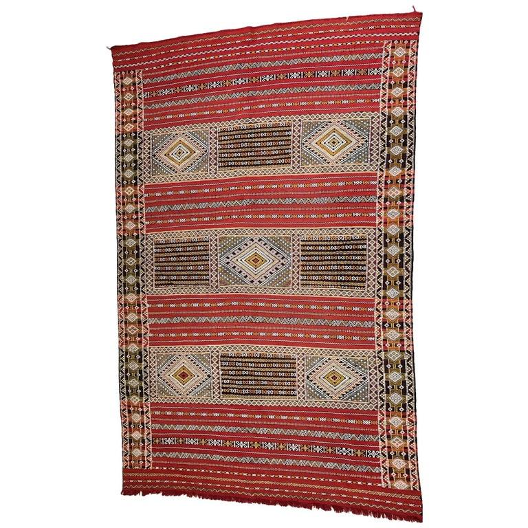 Moroccan Handmade Kilim Rug For Sale At 1stdibs