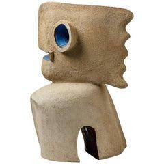 Zoomorphic Ceramic Sculpture by Michel Lanos, circa 1980-1990