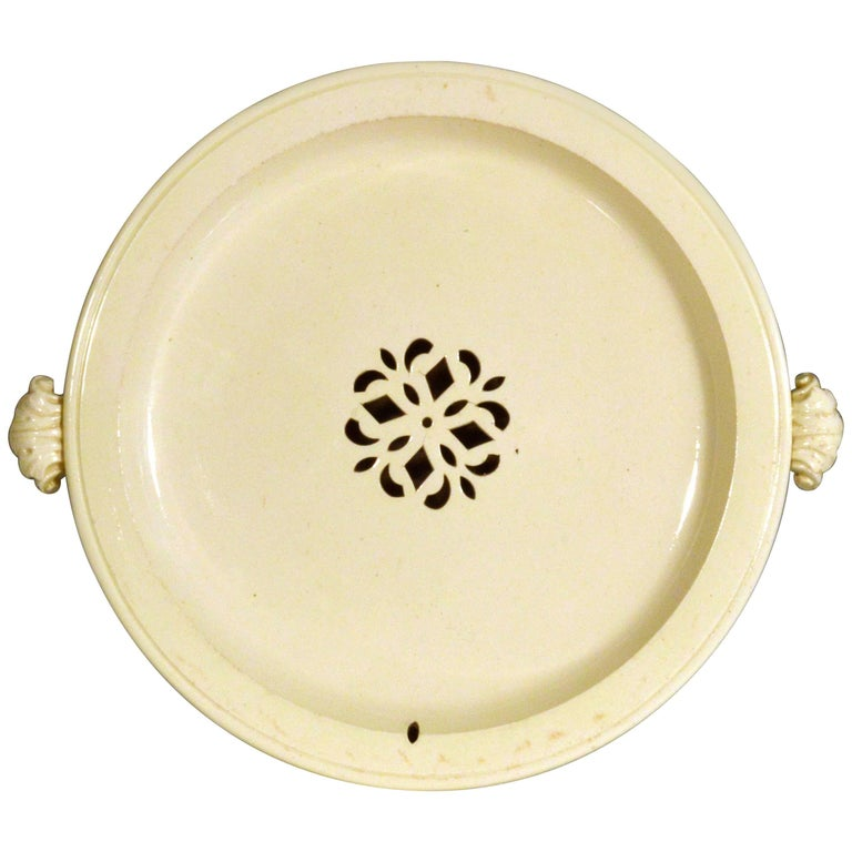 Creamware Hot Water Plate, circa 1785-1800 For Sale