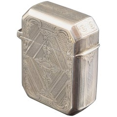 Solid Silver Box, with Hallmarks, 19th-20th Centuries