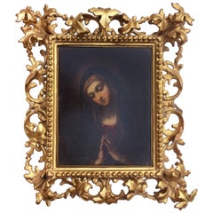 Early 18th Century Oil Painting of Madonna in the Manner of Bellini