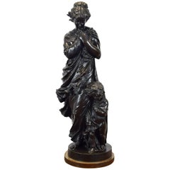 """Allegory of the Winter"", Bronze, Étienne Alexandre, France, 19th Century"