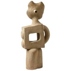 Big Ceramic Sculpture by Michel Lanos, circa 1980-1990