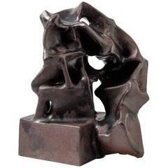 Ceramic Sculpture by Michel Lanos, circa 1980-1990