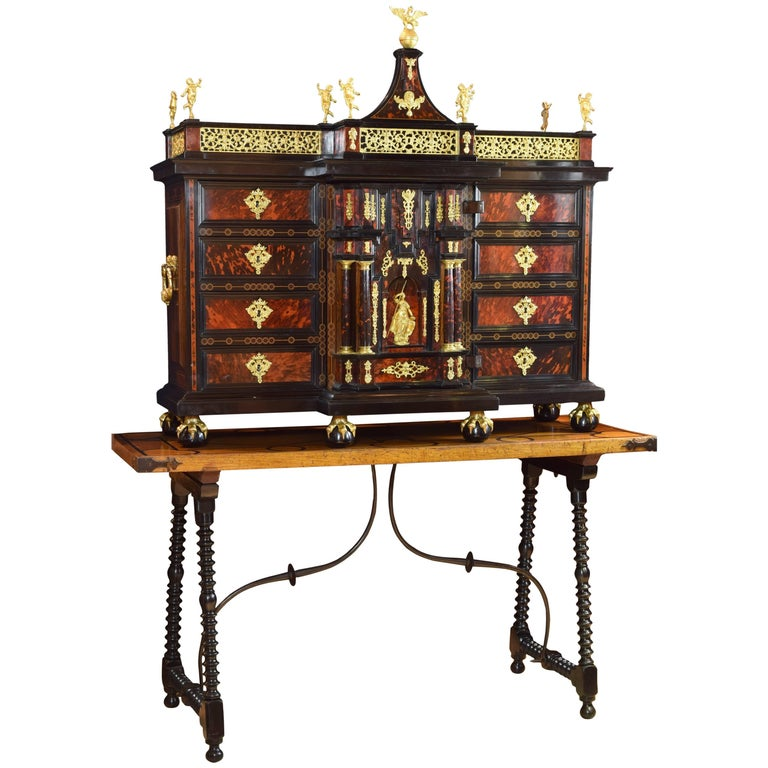 Italian Cabinet with Table, 17th Century