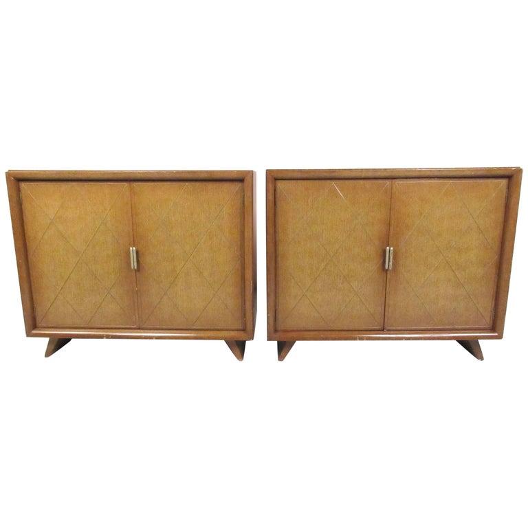 Pair of Vintage Modern Tommi Parzinger Bedroom Chests