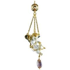 Cupid Pendant, Gold, Stones, Enamel, 17th Century