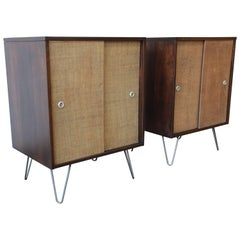 Pair of Paul McCobb Planner Group Cabinets on Hairpin Legs