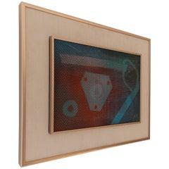 Max Finkelstein Modern Op Art Painting