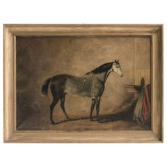 Oil Painting of a Horse, circa 1890