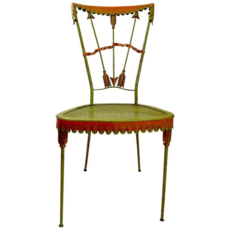 Tomaso Buzzi Wrought Iron Side Chair