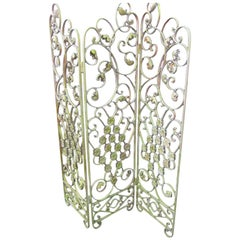 French Wrought Iron Screen