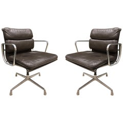 Pair of Eames for Herman Miller Soft Pad Chairs