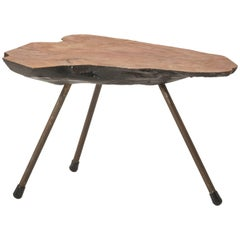 Small Midcentury Tree Trunk Table Attributed to Carl Aubock, Austria, 1950s