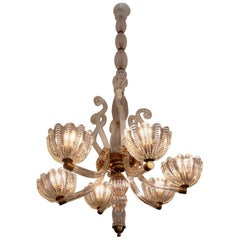 Royal Chandelier by Barovier & Toso, Murano, 1940s