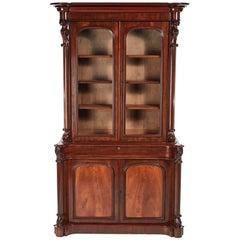 Fantastic Quality Victorian Mahogany Bookcase