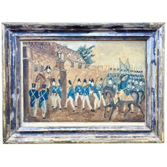 Watercolor Painting of War of 1812 American Soldiers