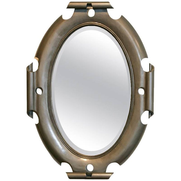 Oval Shield Mirror For Sale