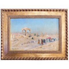 Peder Monsted 'En Arabisk Begraveise Ved Kalif Gravene i Cairo
