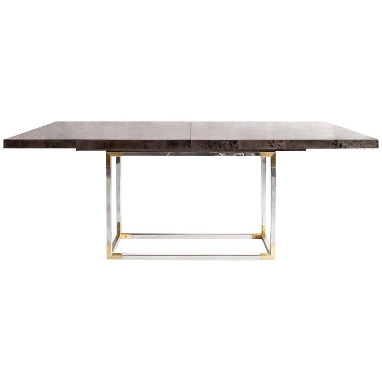 Bond Lindera Wood Dining Table in Charcoal