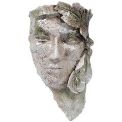 Vintage Grecian Ceramic Wall Mask