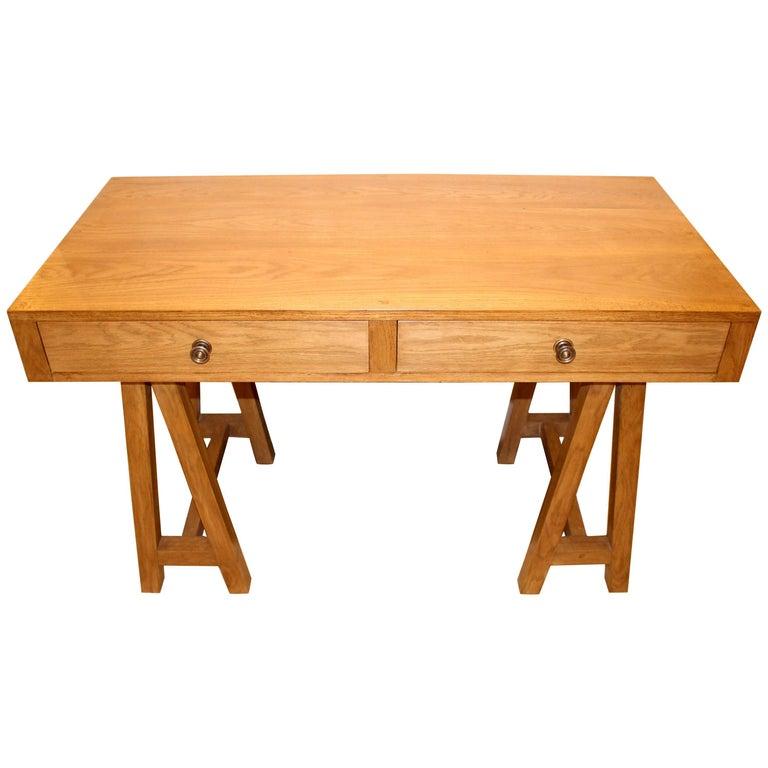 Kennington Oak Desk, Customizable Wood and Size, Handmade in England