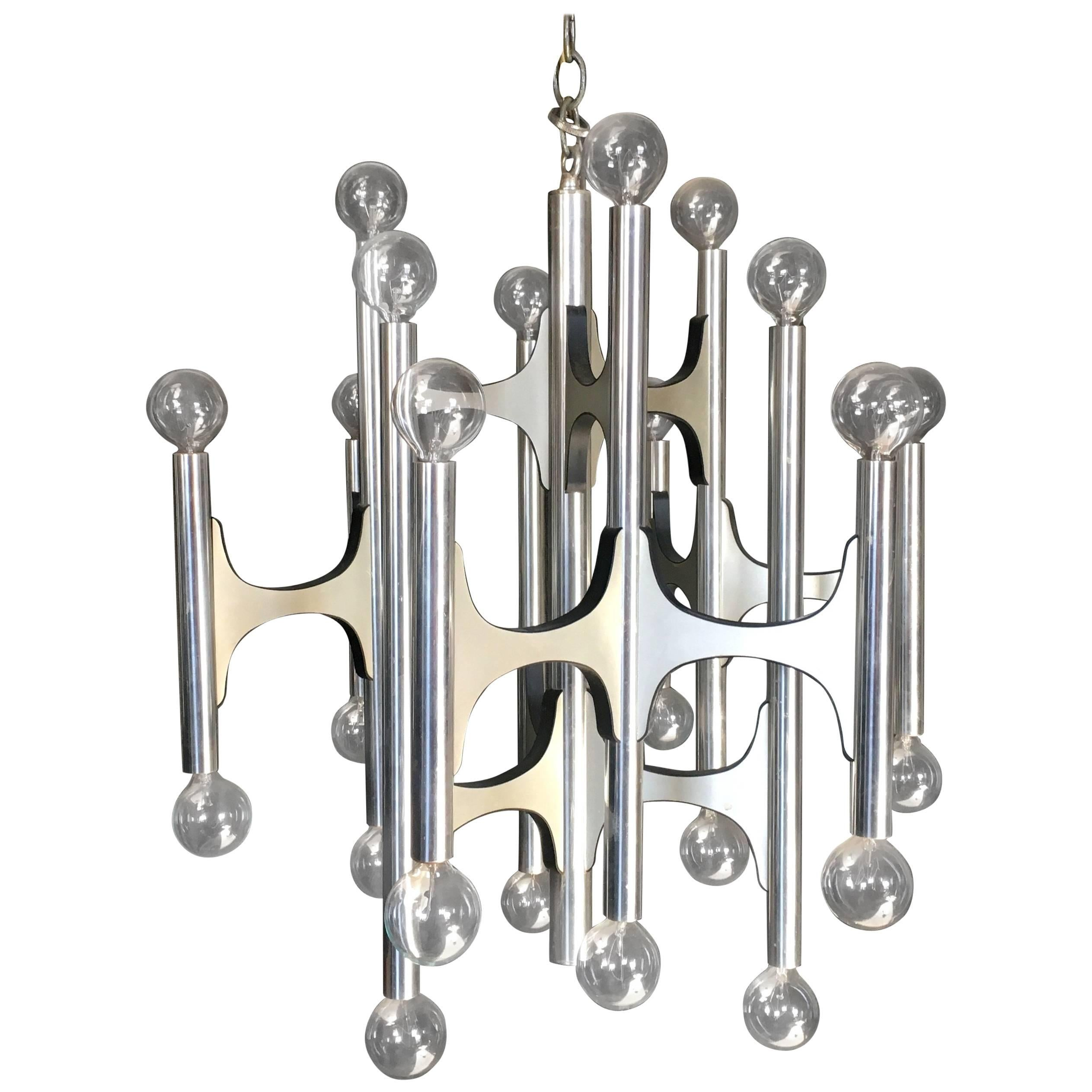24 Bulb Gaetano Sciolari Chandelier For Lightolier